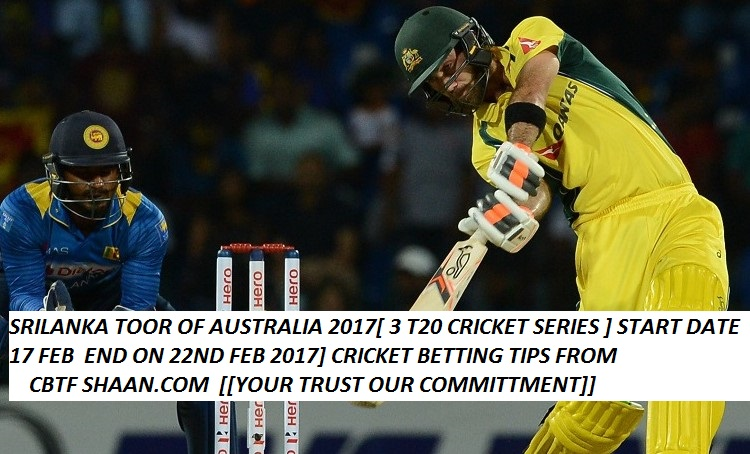 srilanka toor of australia 2017 for 3 t20