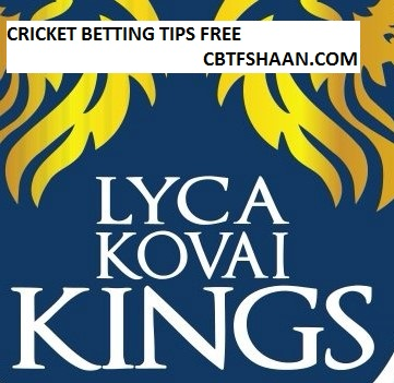 Free Cricket Betting Tips Online Help and Guide from Cricket Betting Tips Expert Cbtf Shaan of Lyca Kovai Kings vs VB Thiruvallur Veerans Tnpl T20 12th August 2017 at Chennai