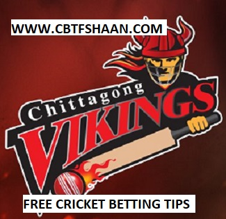 Free Cricket Betting Tips Online Help and Guide from Cricket Betting Tips Expert Cbtf Shaan of Chittagong Vikings vs Sylhet Sixers Bpl T20 24th November 2017 at Chittagong