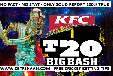 Big Bash T20 2017-18 Cup Winner Free Cricket Betting Tips & Predictions