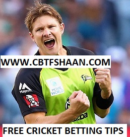 Free Cricket Betting Tips Online Help and Guide from Cricket Betting Tips Expert Cbtf Shaan of Sydney Sixer Vs Sydney Thunder Big bash T20 19th December 2017 at Sydney