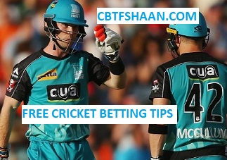 Free Cricket Betting Tips Online Help and Guide from Cricket Betting Tips Expert Cbtf Shaan of at Brisbane Heat Vs Sydney Thunder Big bash T20 27th December 2017 at Brisbane