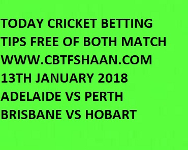 Adelaide Strikers vs Perth Scorchers and Hobart vs Brisbane Heat Cricket Predictions.