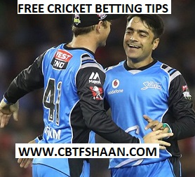 Free Cricket Betting Tips Online Help and Guide from Cricket Betting Tips Expert Cbtf Shaan of Adelaide Striker Vs Melbourne Renegades Big bash T20 2nd Feb 2018 at Adelaide