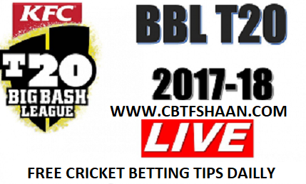 Free Cricket Betting Tips Online Help and Guide from Cricket Betting Tips Expert Cbtf Shaan of Adelaide Strikers Vs Melbourne Stars Big bash T20 9th January 2018 at Adelaide