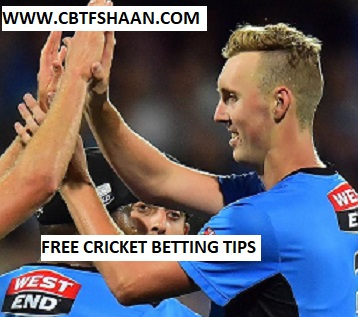 Free Cricket Betting Tips Online Help and Guide from Cricket Betting Tips Expert Cbtf Shaan of Adelaide Strikers Vs Sydney Thunder Big bash T20 7th January 2018 at Sydney