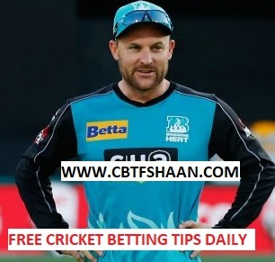 Free Cricket Betting Tips Online Help and Guide from Cricket Betting Tips Expert Cbtf Shaan of Brisbane Heat Vs Perth Scorchers Big bash T20 4th January 2018 at Brisbane