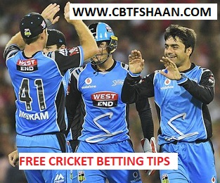 Free Cricket Betting Tips Online Help and Guide from Cricket Betting Tips Expert Cbtf Shaan of Melbourne Renegades Vs Adelaide Strikers Big bash T20 22nd January 2018 at Melbourne