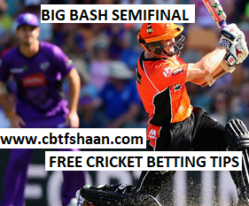 Free Cricket Betting Tips Online Help and Guide from Cricket Betting Tips Expert Cbtf Shaan of Perth Scorchers Vs Hobart Hurricane Big bash T20 1st Feb 2018 at Perth