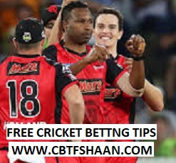 Free Cricket Betting Tips Online Help and Guide from Cricket Betting Tips Expert Cbtf Shaan of Sydney Thunder Vs Melbourn Renegades Big bash T20 24th January 2018 at Canberra