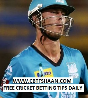 Free Cricket Betting Tips Online Help and Guide from Cricket Betting Tips Expert Cbtf Shaan of at Melbourn Star Vs Brisbane Heat Big bash T20 2nd January 2018