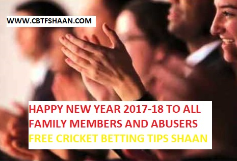 Happy New Year to all my followers cum Family Members from betting tips cbtf shaan