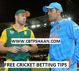 Free Cricket Betting Tips Online Help and Guide from Cricket Betting Tips Expert Cbtf Shaan of India Vs South Africa 1st T20 18th Feb 2018 at Johannesburg