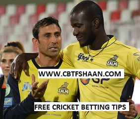 Free Cricket Betting Tips Online Help and Guide from Cricket Betting Tips Expert Cbtf Shaan of Peshawar Zalmi Vs Karachi Kings T20 15th March 2018 at Sharjah