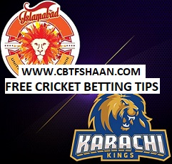 Free Cricket Betting Tips of Islamabad Vs Karachi T20 18th March 2018 Qualifier at Dubai