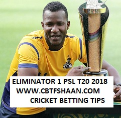 Free Cricket Betting Tips of Peshawar Zalmi Vs Quetta Gladiators T20 20th March 2018 at Lahore