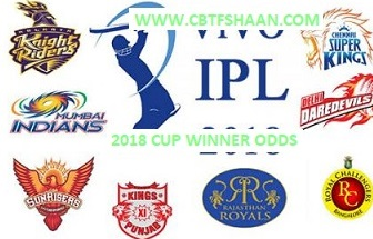 Ipl T20 2018 Or Indian Premier League T20 2018 Live Free Cricket Betting Odds & Match Rate will come daily For Punters And Visitors