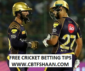 Free Cricket Betting Tips of Rajasthan Vs Kolkata Ipl T20 18Th Aprill 2018 at Jaipur