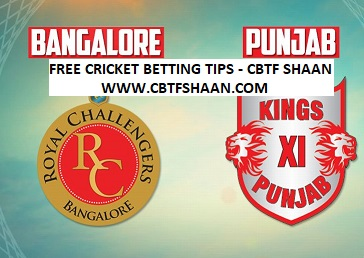 Cricket Betting Tips Free Online Help of Bangalore Vs Punjab Ipl T20 13Th Aprill 2018 at Bangalore