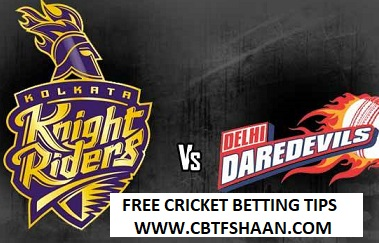 Free Cricket Betting Tips Online Help and Guide from Cricket Betting Tips Expert Cbtf Shaan of Kolkata Vs Delhi Ipl T20 16Th Aprill 2018 at Kolkata – Live Cricket Betting Tips