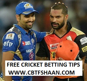Free Cricket Betting Tips Online Help and Guide from Cricket Betting Tips Expert Cbtf Shaan of Hyderabad Vs Mumbai Indian Ipl T20 12th Aprill 2018 at Hyderabad – Live Cricket Betting Tips Online & Predictions
