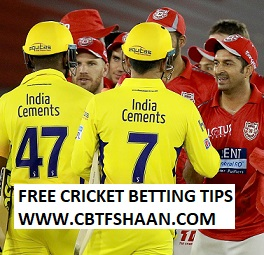 Free Cricket Betting Tips of Punjab Vs Chennai Ipl T20 20Th May 2018 at Pune