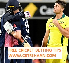 England Vs Australia 1st Odi 13th June 2018 at Oval Cricket Betting Tips