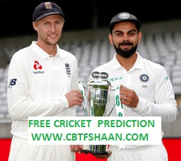 Free Cricket Betting Tips Online Help and Guide from Cricket Betting Tips Expert Cbtf Shaan of India Vs England 2nd Test 9th August 2018 at Lords