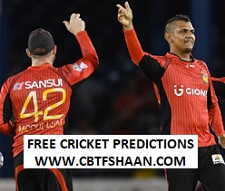 Cricket Betting Tips Free Online Help of Trinbago Knight Riders Vs Barbados Trident Cpl T20 2018 7th Sep 2018 at Trinidad