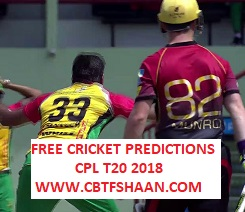 Free Cricket Betting Tips Online Help and Guide from Cricket Betting Tips Expert Cbtf Shaan of Guyana Amazon Vs Trinbago Knight Riders Cpl T20 1st Qualifier 11 September 2018 at Guyana