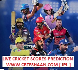IPL T20 2020 LIVE CRICKET SCORES PREDICTIONS DAILY FRO CBTF SHAAN
