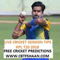Live Cricket Session or Fancy Tips Free of Hubli Tigers Vs Belghavi Panthers T20 1st Sep 2018 at Mysore