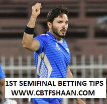 Free Cricket Betting Tips of Apl T20 1st SemiFinal 19th October 2018 at Sharjah