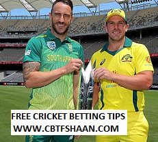 Cricket Betting Tips Free of Australia Vs South Africa Only T20 17th Nov 2018 At Carrera