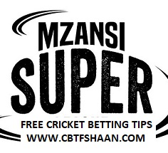 Cricket Betting Tips Free of CapeTown Vs Paarl Rocks Mzansi T20 25th Nov 2018 At Paarl