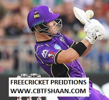 Cricket Betting Tips Free of Big Bash T20 Hobart Huricane Vs Sydney sixer 4th Jan 2019 at Hobart