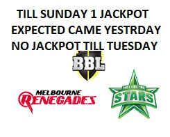 Free Cricket Betting Tips of Big Bash T20 Melbourne Renegades Vs Star 19th Jan 2019 at Melbourne