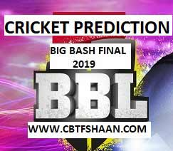 Cricket Betting Tips Free of Big Bash finale T20 2019 17th Feb at Melbourne