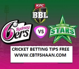 Cricket Betting Tips Free of Star Vs Sixer Bbl T20 10th Feb 2019 at Melbourne