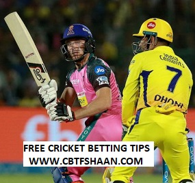 Cricket Betting Tips Free of Ipl T20 CHENNAI VS RAJSTHAN  31st March 2019 AT CHENNAI.