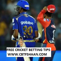 Cricket Betting Tips Free of Ipl T20 Mumbai Vs Delhi 24th March 2019 at Mumbai