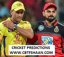 Cricket Betting Tips Free of Ipl T20 Bangalore Vs Chennai 21st Aprill 2019 at Bangalore
