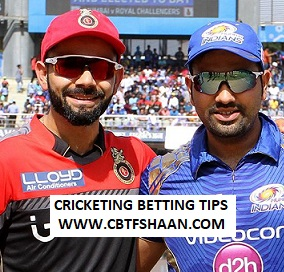 Cricket Betting Tips Free of Ipl T20 Mumbai Vs Bangalore 15th Aprill 2019 at Mumbai
