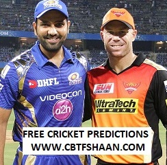 Cricket Betting Tips Free of Ipl T20 Mumbai Vs Hyderabad 2nd May 2019 at Mumbai