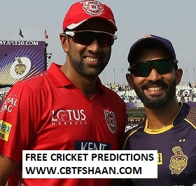 Cricket Betting Tips Free of Ipl T20 Punjab Vs Kolkata 3rd May 2019 at Mohali