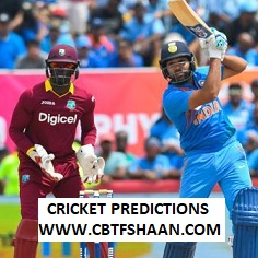 Cricket Betting Tips Free of India Vs West Indies 3rd t20 6th August 2019 At Guyana - Free Cricket Predictions Daily for Punters
