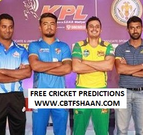 Cricket Betting Tips Free of Kpl T20 Bengaluru Blasters Vs Shivamogga Lions of 20th August 2019 At Bengaluru