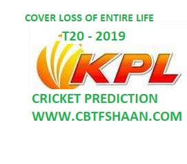 Free Cricket Betting Tips Online Help and Guide from Cbtf Shaan of  Mission Kpl T20 2019