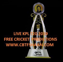 Kpl T20 Qualifier 1,Qualifier 2,Eliminator & Final Kpl T20 2019 Cricket Betting Tips Free