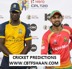 Free Cricket Betting Tips of St Lucia Vs Guyana Amazon Warriors Cpl T20 26th Sep 2019 At St Lucia
